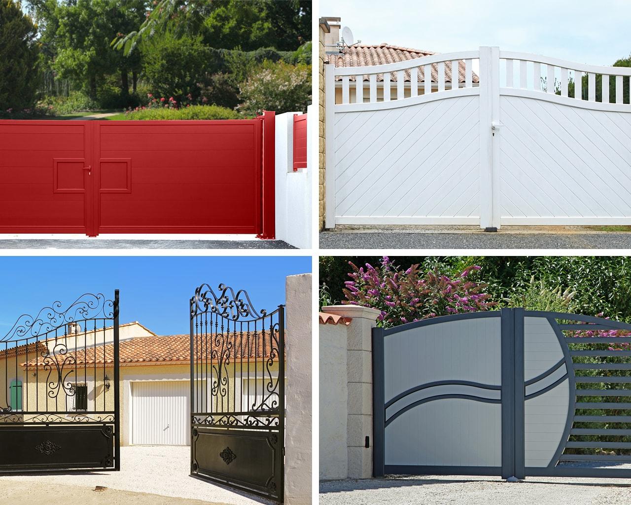 votre portail aluminium motoris en promotion stock en magasin. Black Bedroom Furniture Sets. Home Design Ideas